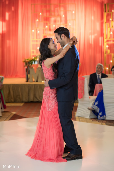 indian wedding reception,indian fusion wedding reception,indian wedding gowns,suit and tie,indian bride and groom first dance
