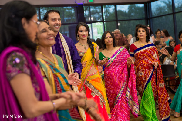 indian sangeet,indian pre-wedding venue,indian pre-wedding celebrations,indian pre-wedding fashion,indian wedding lengha,performers