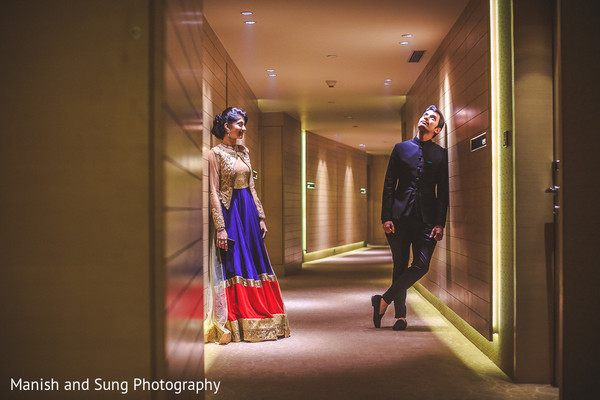 Sangeet Night Portrait in Mumbai Indian Wedding by Manish and Sung Photography