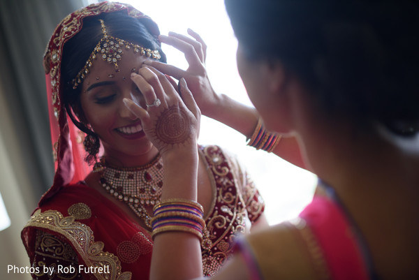 Getting Ready in Philadelphia, PA Indian Wedding by Photos by Rob Futrell