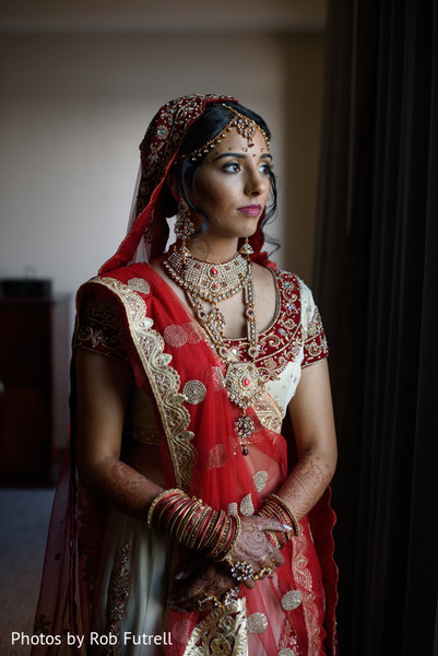 Bridal Portrait in Philadelphia, PA Indian Wedding by Photos by Rob Futrell
