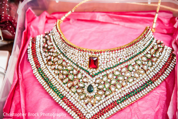 Bridal Jewelry in Greenville, SC Indian Wedding by Christopher Brock Photography