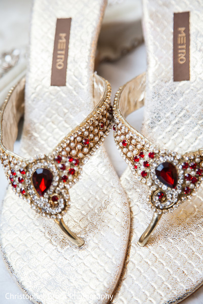 Shoes in Greenville, SC Indian Wedding by Christopher Brock Photography