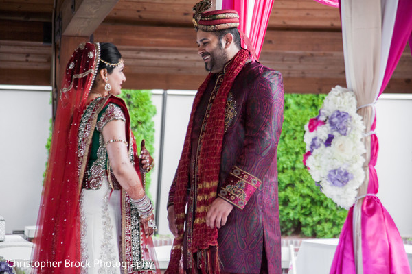 First Look in Greenville, SC Indian Wedding by Christopher Brock Photography