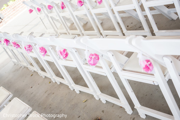 Ceremony Decor in Greenville, SC Indian Wedding by Christopher Brock Photography