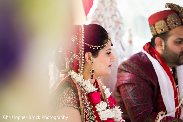 Ceremony in Greenville, SC Indian Wedding by Christopher Brock Photography