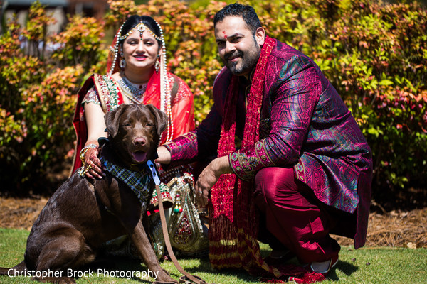Wedding Portrait in Greenville, SC Indian Wedding by Christopher Brock Photography