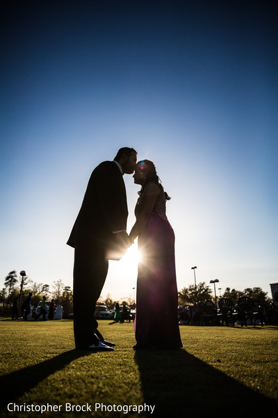 Reception Portrait in Greenville, SC Indian Wedding by Christopher Brock Photography