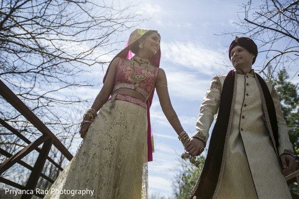 First Look in Parsippany, NJ Indian Fusion Wedding by Priyanca Rao Photography