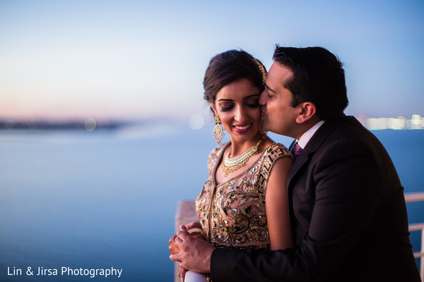 Reception Portraits in Coronado, CA Indian Wedding by Lin & Jirsa Photography
