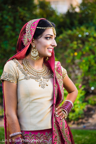 First Look in Coronado, CA Indian Wedding by Lin & Jirsa Photography