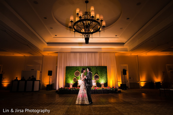 Reception in Coronado, CA Indian Wedding by Lin & Jirsa Photography
