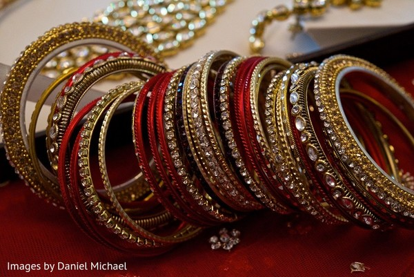 Bangles in Indianapolis, IN Indian Wedding by Images by Daniel Michael