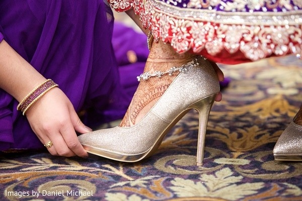 Shoes in Indianapolis, IN Indian Wedding by Images by Daniel Michael