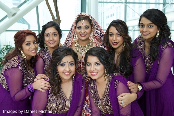 Bridal Party Portrait in Indianapolis, IN Indian Wedding by Images by Daniel Michael