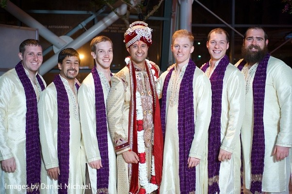 Groomsmen Portrait in Indianapolis, IN Indian Wedding by Images by Daniel Michael