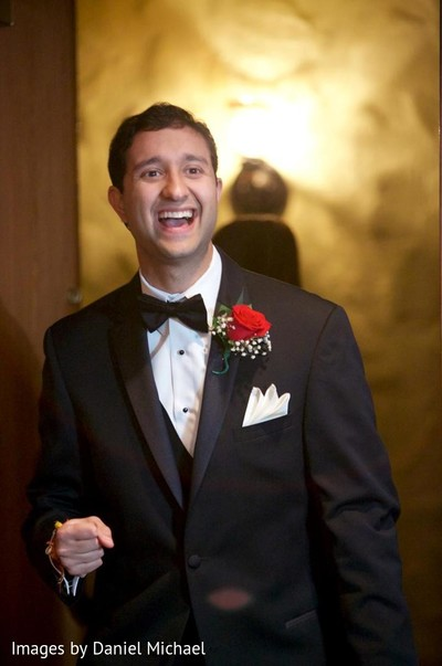 Groom Portrait in Indianapolis, IN Indian Wedding by Images by Daniel Michael
