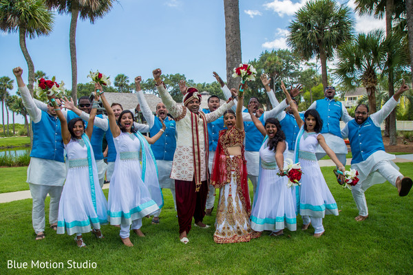 First Look in Hilton Head Island, SC Indian Wedding by Afterglow Creative