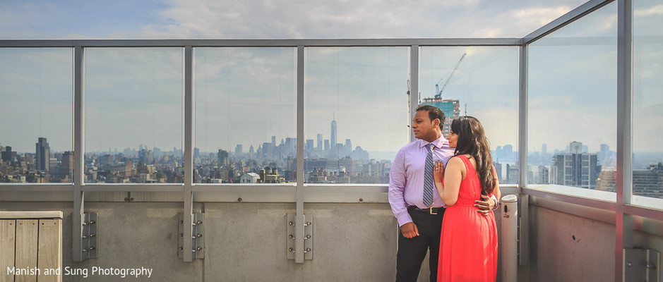 Pre-Wedding Portrait in Jersey City, NJ Indian Wedding by Manish and Sung Photography