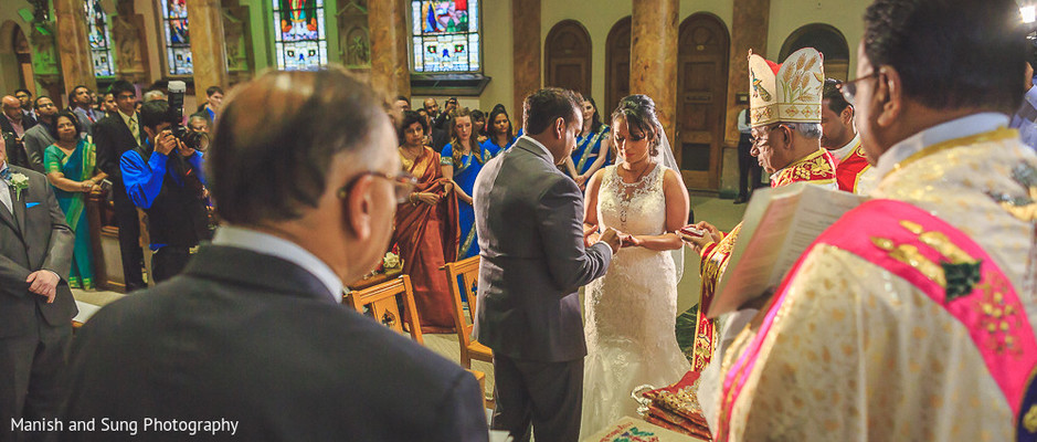 Ceremony in Jersey City, NJ Indian Wedding by Manish and Sung Photography