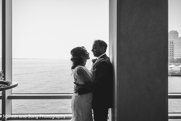 Reception Portrait in Jersey City, NJ Indian Wedding by Manish and Sung Photography