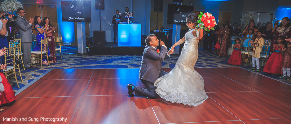 Reception in Jersey City, NJ Indian Wedding by Manish and Sung Photography