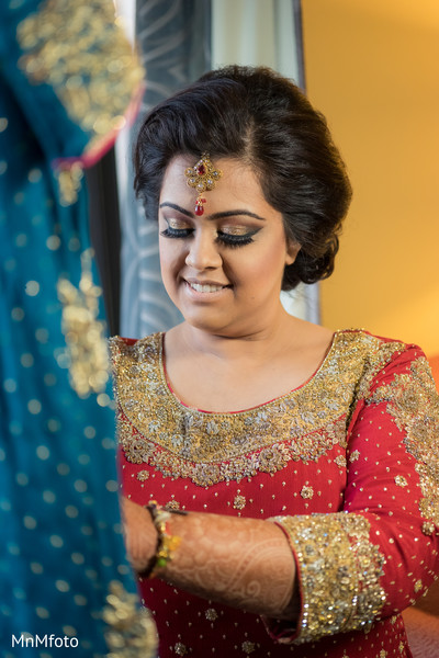 Getting Ready in Houston, TX Indian Wedding by MnMfoto