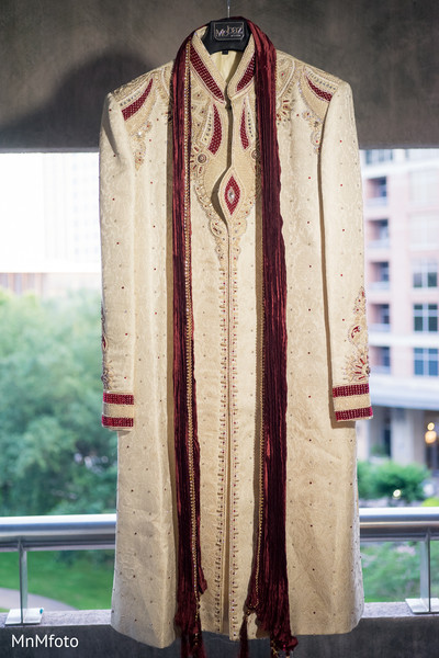 Groom Fashion in Houston, TX Indian Wedding by MnMfoto