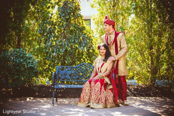 First Look in Somerset, NJ Indian Wedding by Lightyear Studio