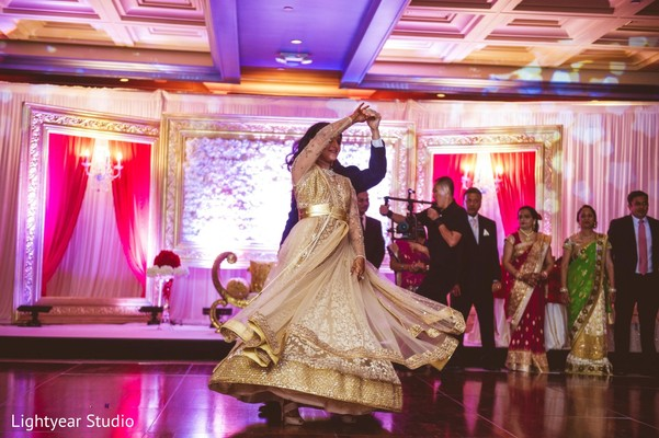indian wedding reception,reception fashion,lengha,first dance