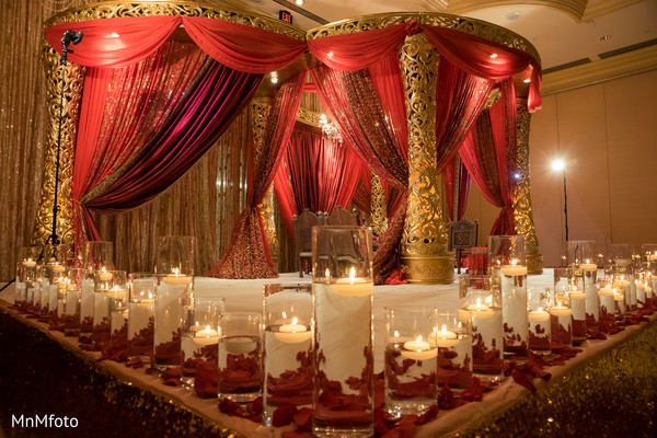 Ceremony Decor in Houston, TX Indian Wedding by MnMfoto