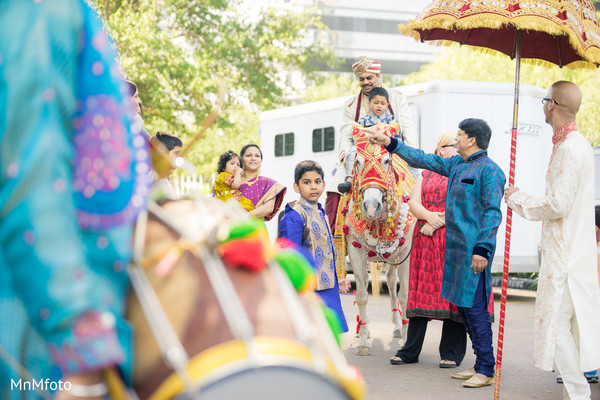 Baraat in Houston, TX Indian Wedding by MnMfoto