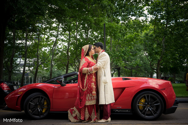 Wedding Portrait in Houston, TX Indian Wedding by MnMfoto