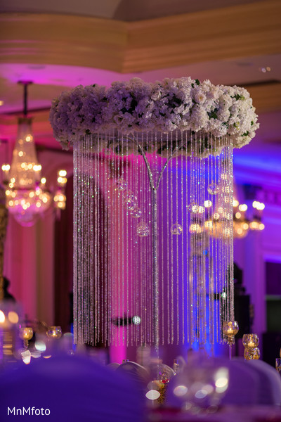 Centerpiece in Houston, TX Indian Wedding by MnMfoto
