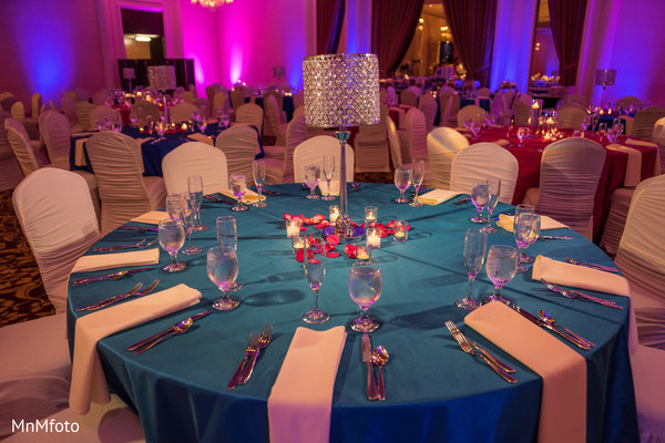 Table Decor in Houston, TX Indian Wedding by MnMfoto