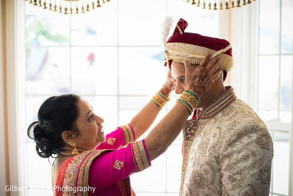 Groom Getting Ready in Glendale, CA Indian Fusion Wedding by Gilbert Rivera Photography