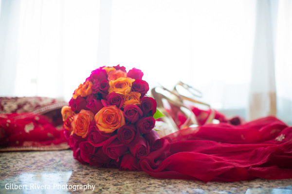 Bouquet in Glendale, CA Indian Fusion Wedding by Gilbert Rivera Photography