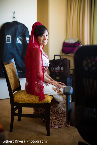 Getting Ready in Glendale, CA Indian Fusion Wedding by Gilbert Rivera Photography