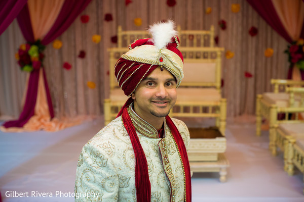 Groom Portrait in Glendale, CA Indian Fusion Wedding by Gilbert Rivera Photography