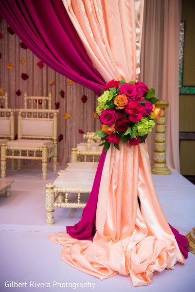 Ceremony Decor in Glendale, CA Indian Fusion Wedding by Gilbert Rivera Photography