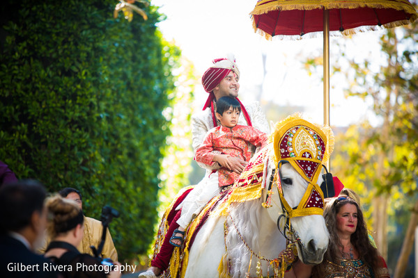 Baraat in Glendale, CA Indian Fusion Wedding by Gilbert Rivera Photography