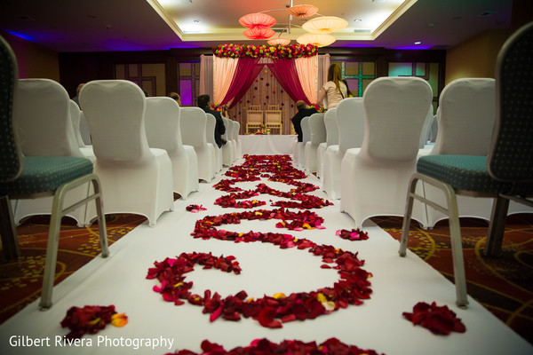 Aisle Decor in Glendale, CA Indian Fusion Wedding by Gilbert Rivera Photography