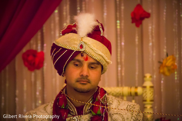 Ceremony in Glendale, CA Indian Fusion Wedding by Gilbert Rivera Photography