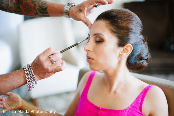 Getting Ready in Washington, D.C. Indian Fusion Wedding Styled Shoot by Jessica Maida Photography