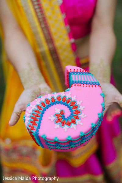 Cake in Washington, D.C. Indian Fusion Wedding Styled Shoot by Jessica Maida Photography