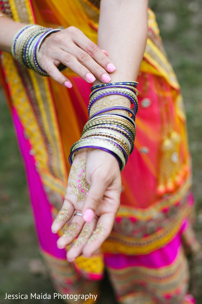 Bangles in Washington, D.C. Indian Fusion Wedding Styled Shoot by Jessica Maida Photography