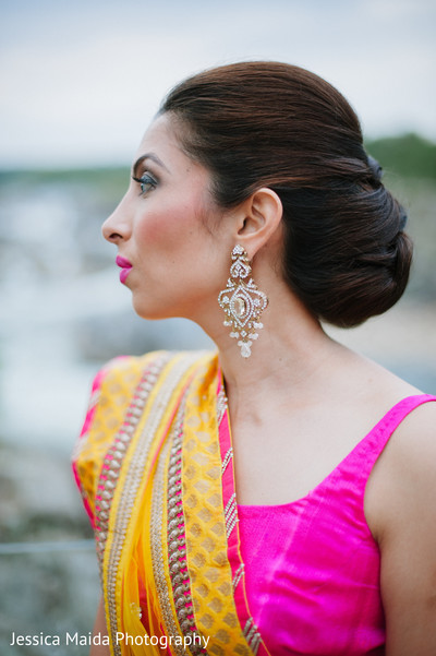 Bridal Portrait in Washington, D.C. Indian Fusion Wedding Styled Shoot by Jessica Maida Photography