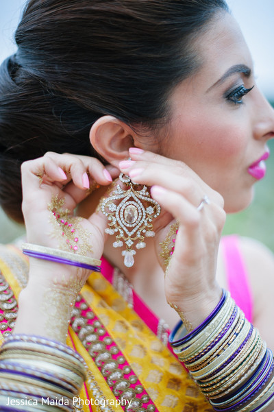 Earrings in Washington, D.C. Indian Fusion Wedding Styled Shoot by Jessica Maida Photography