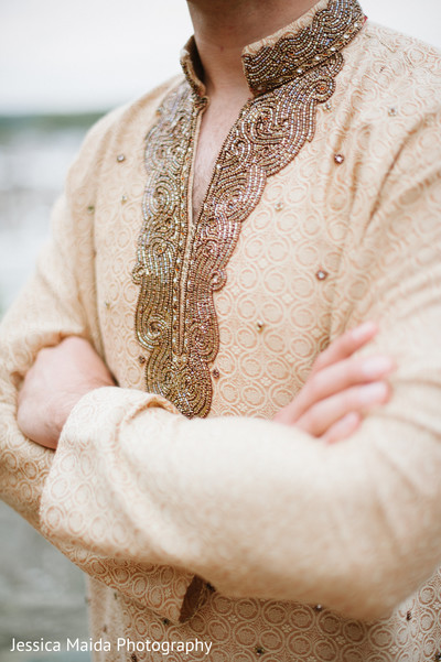 Groom Portrait in Washington, D.C. Indian Fusion Wedding Styled Shoot by Jessica Maida Photography