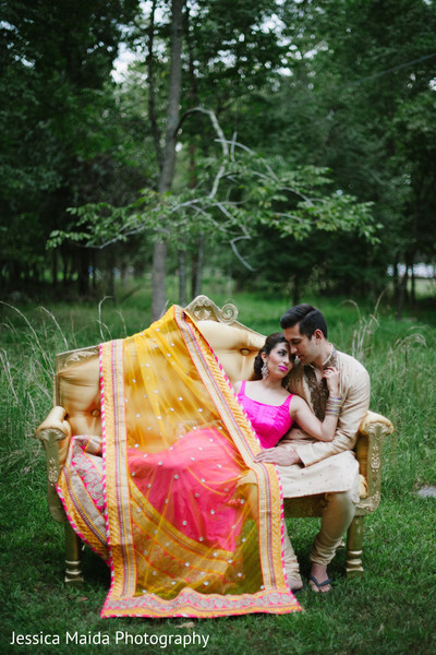 Wedding Portrait in Washington, D.C. Indian Fusion Wedding Styled Shoot by Jessica Maida Photography